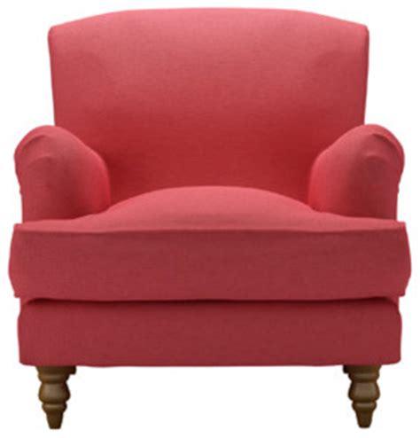snowdrop armchair coral house textured cotton modern