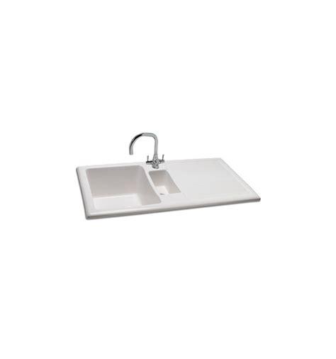 drainer ceramic kitchen sinks carron shonelle 150 ceramic inset bowl half 8804