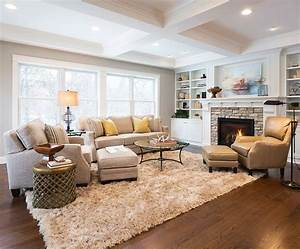 How to arrange living room furniture with fireplace and tv for Organizing living room family picture ideas