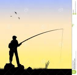 Fly Fishing Silhouette Clip Art