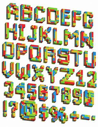 Lego Font Blocks Fonts Alphabet Play Random