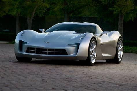 silver corvette stingray vision concept hd wallpaper