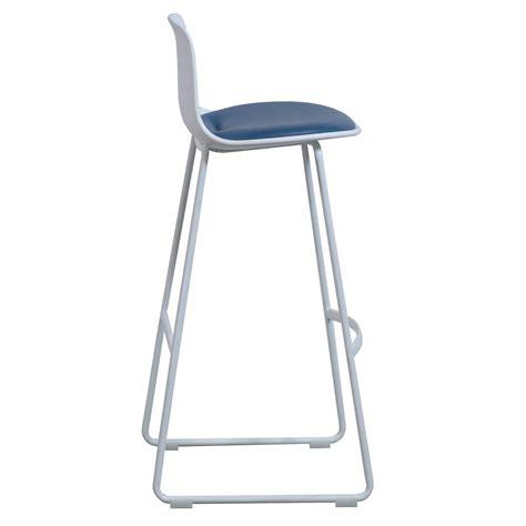 steelcase enea lottus used leather stool blue national