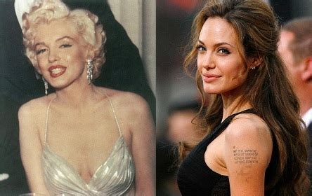 Angelina Jolie and George Clooney as Marilyn Monroe and ...