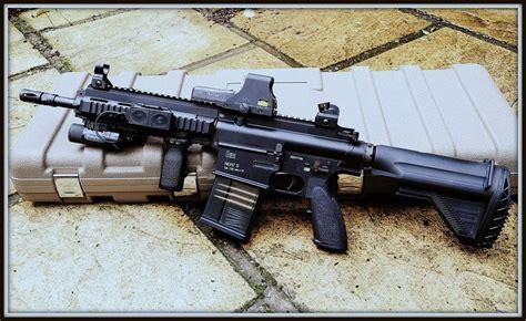 heckler  koch hk carbine  eotech red dot  magpul foregrip  flashlight  nice