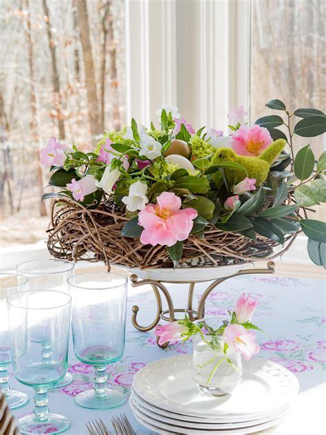 DIY Spring Floral Birds Nest Centerpiece   Duke Manor Farm