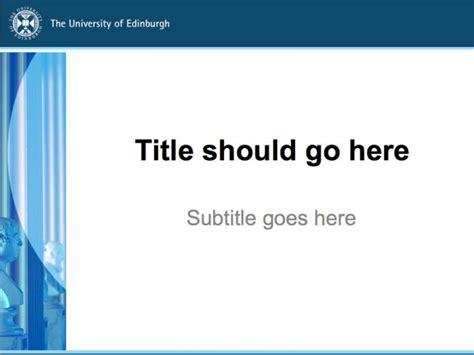 powerpoint templates  university  edinburgh
