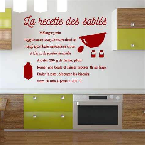 stickers recette de cuisine sticker cuisine recette la recette des sabl 233 s stickers