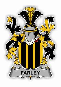 Farley Family Crest Vinyl Die-Cut Decal / Sticker ** 4 ...