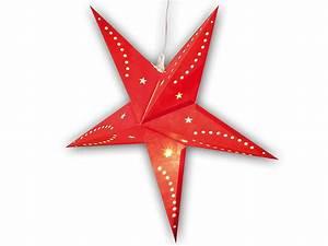 Papierstern Mit Beleuchtung : lunartec 3d weihnachtsstern lampe stern aus papier 60 cm rot ~ Watch28wear.com Haus und Dekorationen