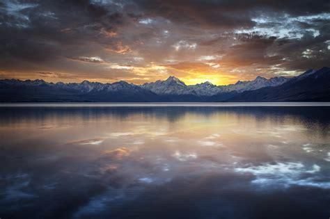 nature, Mountain, Sunset, Water Wallpapers HD / Desktop ...