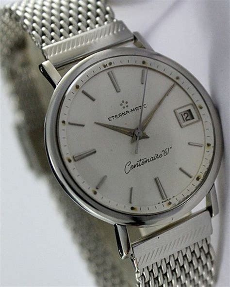 Eterna Matic Centenaire 61 Men's Vintage Wristwatch
