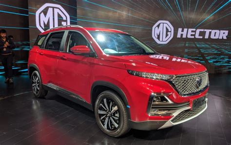highly anticipated mg hector premium suv revealed  india