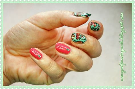 August Meadow Nail Art By Eliza Ok-w
