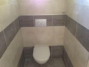 poser du carrelage mural dans les toilettes With poser du carrelage mural