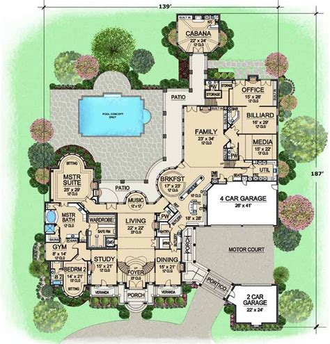 Sims 3 Big House Floor Plans by European Style House Plans 15079 Square Foot Home 2