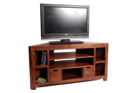 meuble tv d angle palissandre massif 5 cases