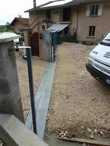 Faire Un Seuil De Portail : r alisation d 39 un seuil de portail coulissant jardin ~ Premium-room.com Idées de Décoration