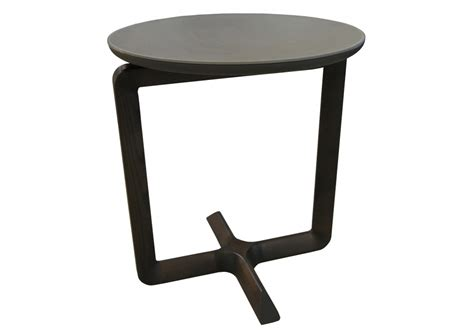 Fidelio Poltrona Frau Side Table With Leather