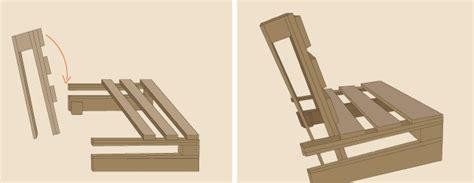 canapé avec des palettes fabriquer un fauteuil en palette aménagement de jardin