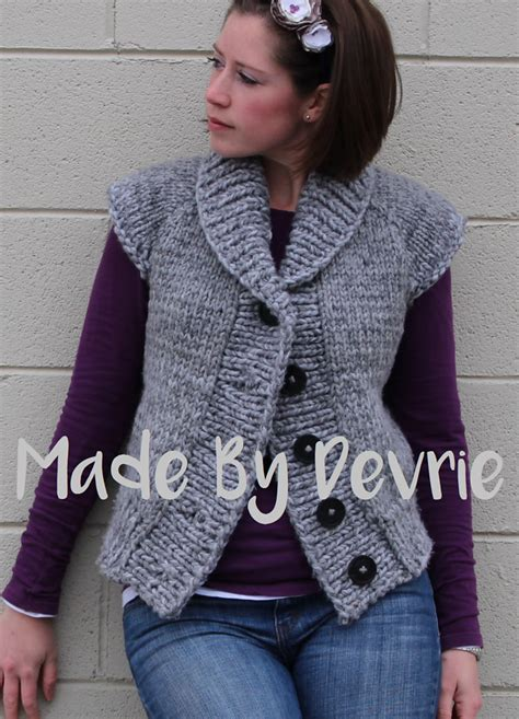 versatile vest knitting patterns   loop knitting