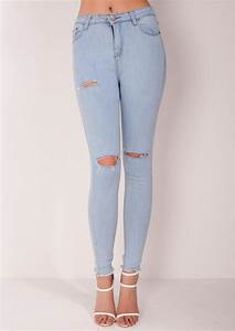 High Waisted Jeans Ripped | Bbg Clothing