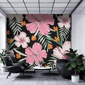 Pink, Flowers, U2013, Mural, Wallpaper, Pvc, Free, Non