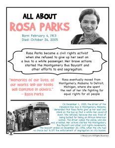 rosa parks day printables woo jr kids activities
