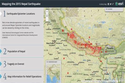 nepal earthquake story map