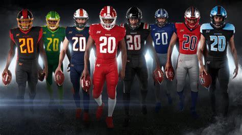 xfl unveils official uniforms    teams xfl news