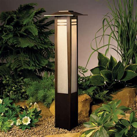low voltage outdoor lighting kichler low voltage bollard path light 15392oz