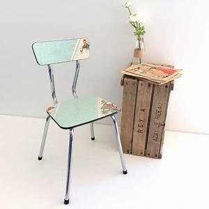 Chaise Vert D Eau : chaise formica vert d 39 eau les vieilles choses ~ Teatrodelosmanantiales.com Idées de Décoration