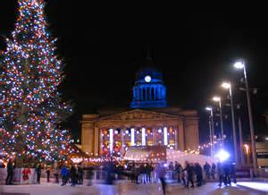christmas in nottingham market lights switch on tree 2016 2017
