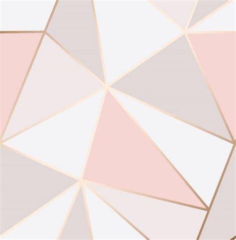 decor apex geo pink gold wallpaper fd41993