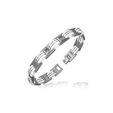bracelet homme acier or blanc bangle and bracelets