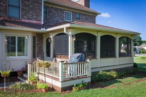 the porch company classic screened porch with small deck porch nashville