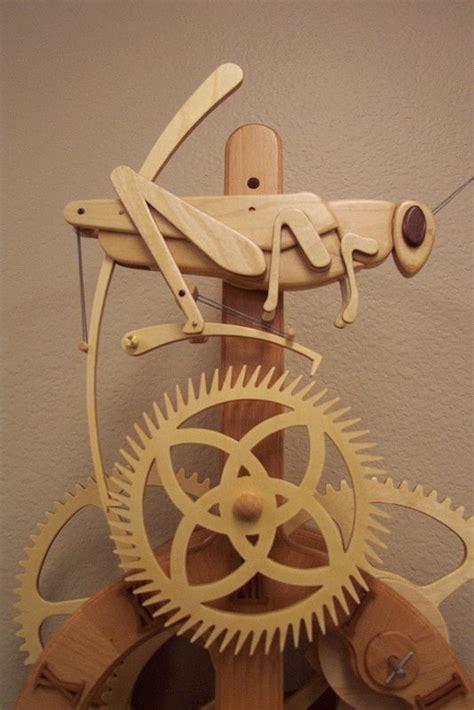 grasshopper  wooden gear clock wooden gears crafts