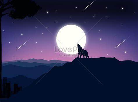 ilustrasi estetika  megah  malam hari gambar