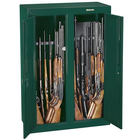 16 or 31 gun double door security cabinet stack on convertible double door security gun cabinet 16 gun