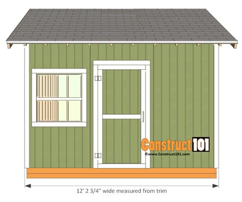 Garden Shed Plans 12x12 by 12x12 Shed Plans Gable Shed Pdf Construct101