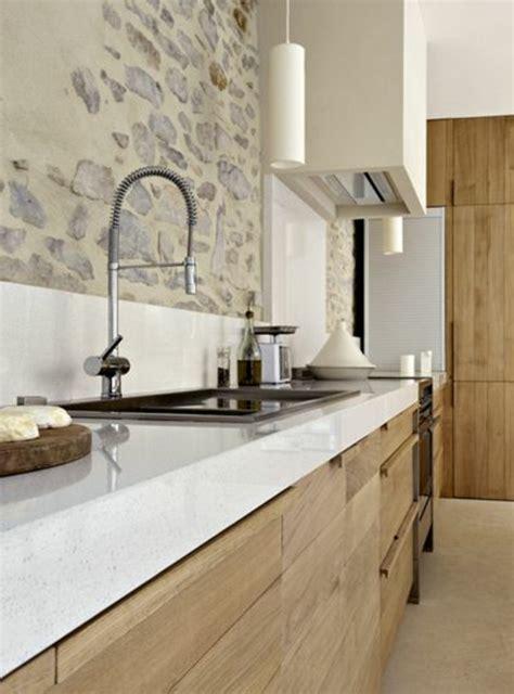 cuisine en bois clair 53 variantes pour les cuisines blanches