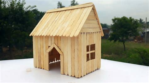 ice cream stick house crafteasy house making  small pet  popsicle youtube