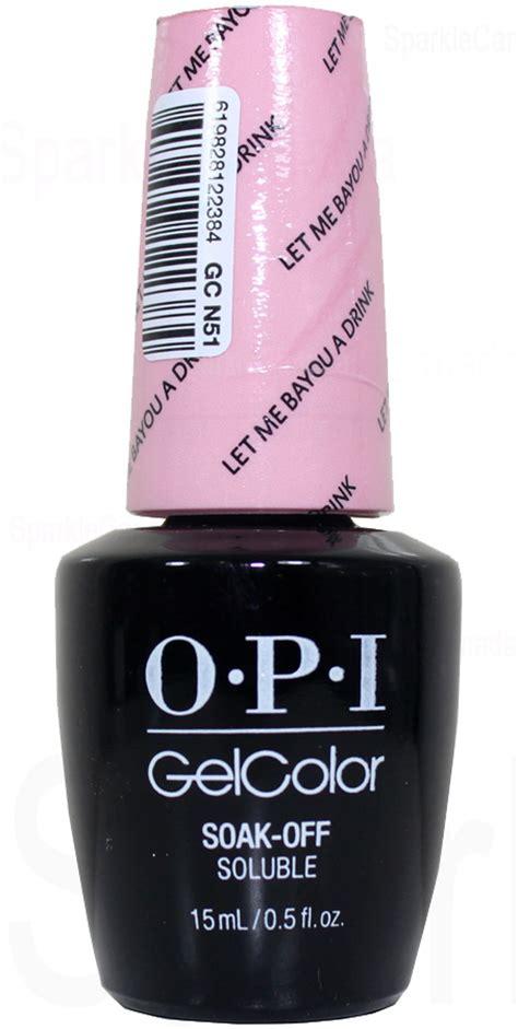 opi gel color   bayou  drink  opi gel color