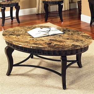 Home design ideas classy marble surface in coffee table for Metal coffee table with stone top