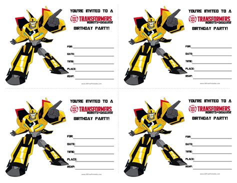 Transformers Party Invitations Template by Free Transformers Birthday Invitations Templates At