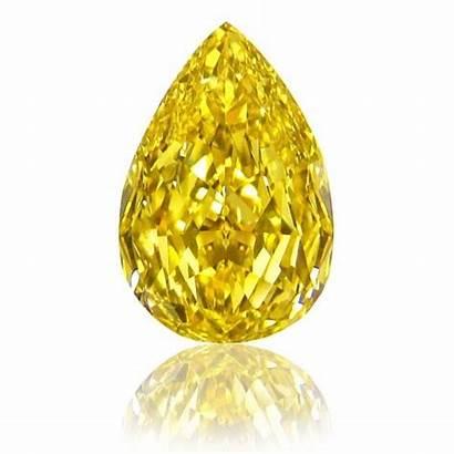 Yellow Diamonds Diamond Fancy Pear Coloured Shape