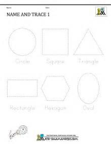 Free Printable Shape Tracing Worksheets