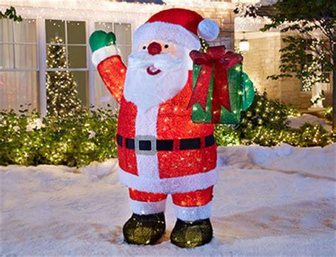 outdoor light up santa outdoor christmas decorations