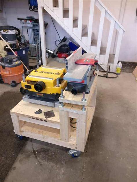 planer jointer bench shop cart   woodworking