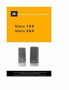 Jbl Media 200  Serv Man3  User Guide    Operation Manual